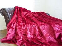 XXL Luxus Kuscheldecke Tagesdecke Wohndecke Decke Plaid brombeer rot  200x240cm