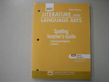 Holt Literature and Language Arts first crs Spelling Teacher's Guide 0554021358