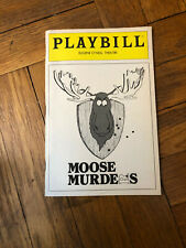 OPENING NIGHT PLAYBILL MOOSE MURDERS HISTORICAL 1 PERF FLOP 2/23/83 VERY RARE