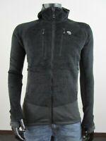 NWT Mens Mountain Hardwear Monkey Man Grid Hooded Polartec Fleece Jacket Black