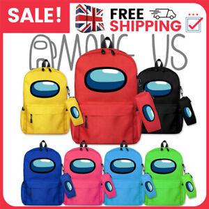 Among Us Game Backpack Boys Girls School Bag Travel Rucksack + Free Pen Bag Gift