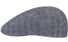 Stetson Europe Germany Blue/Gray/white L 59cm 7 3/8 Flat Cap Ivy Driving Cap