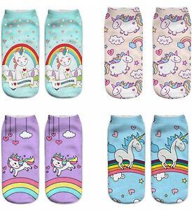 Unicorn Rainbow Socks Cozy Cotton Novelty Adult Women Pregnant Maternity 2-6 UK