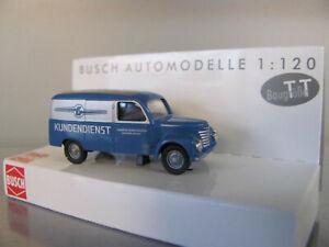 "Busch TT 8673 Framo V901/2 Kastenwagen in blau ""Kundendienst Barkas"" NEU"