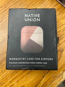Native Union Marquetry Case For Airpods - Premium Italian Leather - Rose