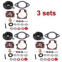 3 Carburetor Rebuild Repair Kit For OMC Johnson Evinrude 0392061 0396701 0398729