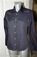 jolie chemise noire rayée pour femme EDEN PARK taille 2 (S) SATISFAIT/REMBOURSÉ