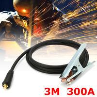 300A Groud Welding Earth Clamp Clip For MIG TIG ARC Welders 3M Cable 10-25 Plug
