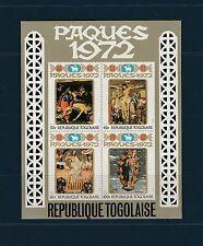 Togo bloc  paques  tableaux     de 1972    num:  60   **