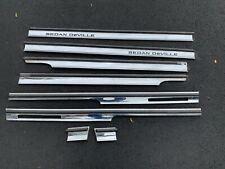 FULL SET 94-96 CADILLAC SEDAN DEVILLE LEFT FRONT CHROME DOOR TRIM MOLDING OEM