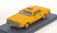 """1 43 NEO Resin Model Dodge Monaco NY """"New York Taxi"""" Yellow 1977 #.43514"""