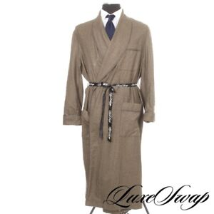 #1 MENSWEAR Signature Majestic Cashmere Mix Houndstooth Silk Lined House Robe SM