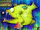 """NFT Art: FISH WITH ATTITUDE collection by Mike Quinn - """"Hungry Ned"""" series 2/30"""