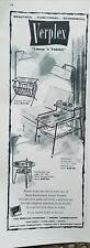 1956 Verplex mid century modern furniture lamp and table ad