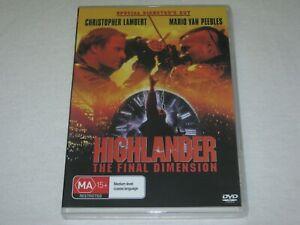 Highlander - Director's Cut - Brand New & Sealed - Region 4 - DVD