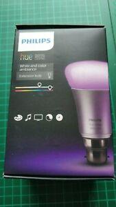Philips Hue White & Colour Ambiance Bulb - B22 Smart Bulb - Boxed