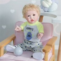 "23"" Handmade Reborn Baby Doll Full Body Silicone Boy Doll Lifelike Soft Touch"