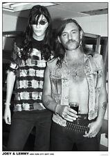 "Joey Ramone / Lemmy Motorhead NEW A1 Size 84.1cm x 59.4cm - 33"" x 24"" Poster"