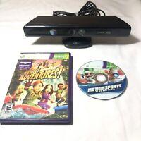 Microsoft Xbox 360 Kinect Motion Sensor Bar Official - Model 1414 - plus games
