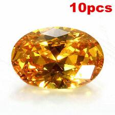 WHOLESALE YELLOW OVAL SAPPHIRE 10X14MM DIAMOND EMERALD CUT AAAA LOOSE GEMSTONES