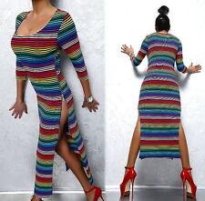 Gestreifte S Damenkleider aus Baumwolle