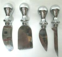 Amco Classic Spreaders Stainless Steel Blades Cheese Knives Knife Mini Set 4