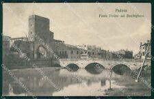 Padova città Ponte Molino sul Bacchiglione cartolina QT8170