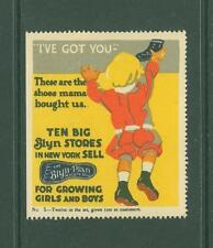 USA C58 MNH Poster Stamp Revenue Advertisement Shoes