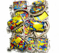 Mosaic Jasper Gemstone 925 Sterling Silver Overlay Wholesale Lot Pendant BGJ-20