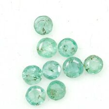 Natural Emerald Round Cut Lot 9 PCS 3 mm Untreated 1.05 Cts Loose Gemstone A8