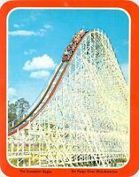 Six Flags Over Mid-America SCREAMIN EAGLE Roller COASTER Amusement Park postcard