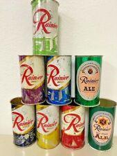 Rainier Jubilee Beer Cans 6- Diff Off Grade W/ 2 Bonus Cans Whoop! Whoop!