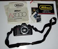 Nikon N2000 35mm SLR Film Camera Body Only w/strap & papers