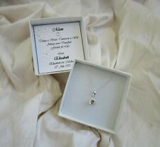 Gift for Mother of the Bride  jewellery  sterling silver  CZ personalized box