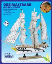 Weico Holzbausatz aus Massivholz 80914 - Dreimastbark Gorch Fock mit Segeln