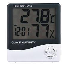 Indoor Room LCD Electronic Meter Digital Thermometer Hygrometer Alarm Clock