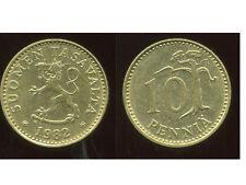 FINLANDE 10 pennia 1982  ( bis )