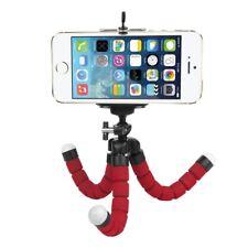 Treppiede flessibile polpo ROSSO iPhone Samsung fotocamera digitale supporto