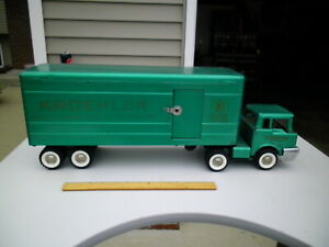 Rare 1960s STRUCTO Pressed Steel KROEHLER Semi Toy Transport Truck ALL ORIGINAL