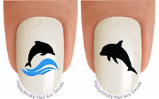 Nail Art #2022 ANIMAL Dolphin Silhouette Wave WaterSlide Nail Decals Transfers