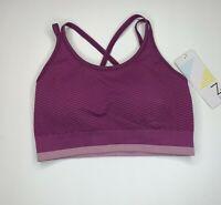 Z By Zella Sports Bra Size XS Purple Fitness Exercise Womens NEW