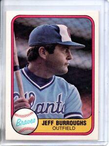 1981 FLEER JEFF BURROUGHS (NM/MT)