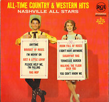 """NASHVILLE ALL STARS """"ALL-TIME COUNTRY & WESTERN HITS"""" 60'S LP CHARLIE McCOY !"""