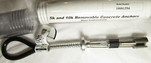 NEW MSA 10081594 REMOVABLE/ TEMPORARY CONCRETE ANCHOR STAINLESS STEEL 400LB
