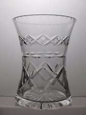 STUART BEAUTIFUL DESIGN LEAD CRYSTAL CUT GLASS VASE - 16 cm TALL