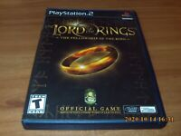 The Lord Of The Rings: Fellowship Of The Ring (Sony Playstation 2 2002) Complete