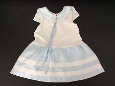 Simonetta Mini robe age 2 ans 92 blanc bleu marin bon état d'été designer filles
