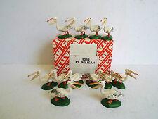 Britains 1382 confezione commerciale di 12 Pellicani Nuovo di zecca con scatola (bs1420)