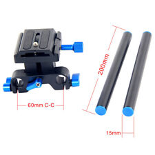 """DSLR Rail Rod Support NEW Rig Quick Release Baseplate Kit Tripod Head 1/4"""" Screw"""