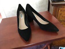 WF ADDENA Mid Block Heel Court Shoe black | Dune